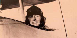 Lieut Arthur Long ready to fly